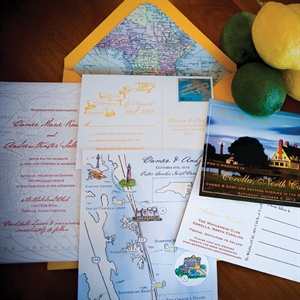 Map Themed Invitation Suite