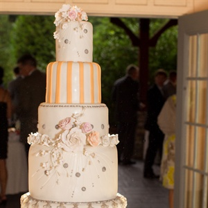 Eclectic Six-Tiered Wedding Cake