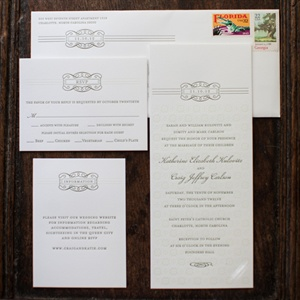 Letterpress Invitation Suite