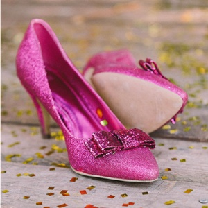 Fuchsia Glitter Bridal Shoes