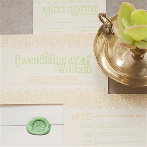 Stencil Design Invitation Suite