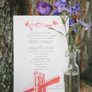 Brooklyn Bridge Invitation
