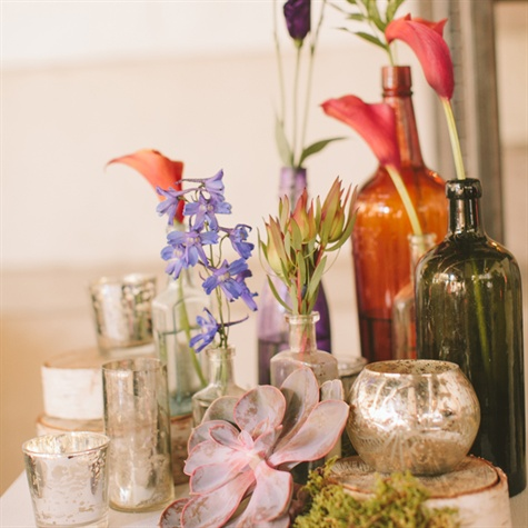 antique bottle centerpieces