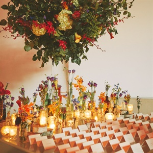 Candlelit Escort Card Table Display