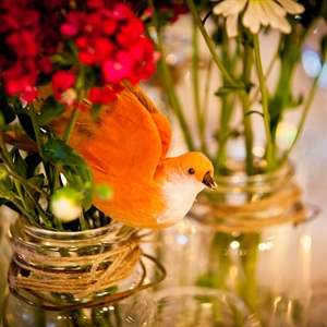 Bird Clip Centerpieces
