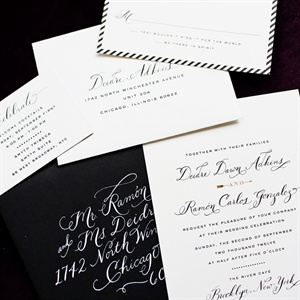 Black & White Invitations