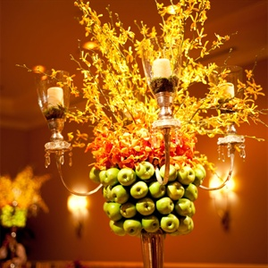Apple and Orchid Centerpiece