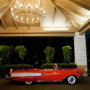 Vintage Convertible Getaway Car