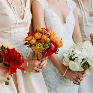 Bride and Bridesmaid Bouquets