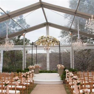 Romantic Tented Ceremony Site