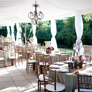 Airy Romantic Reception Decor