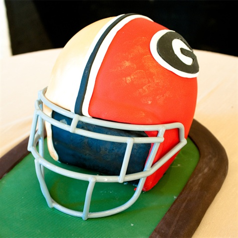 Detailed Football Helmet Groom's Cake