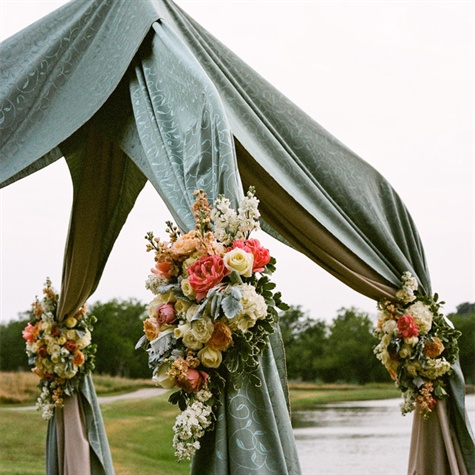 Seafoam Green Wedding Canopy