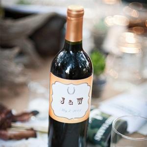 Monogrammed Wine Bottles