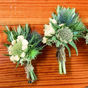 Rustic Green Boutonnieres