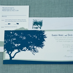 Tree Silhouette Wedding Invitation