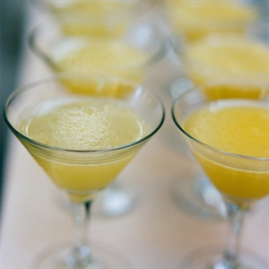 Yellow Reception Cocktails