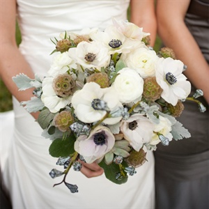 Anemone and Scabiosa Bridal Bouquet
