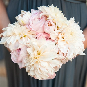 Pink and White Dahlia Bridesmaid Bouquet
