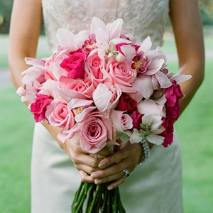 Pink Rose and Orchid Bouquet