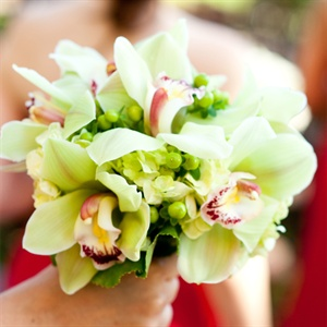 Green Orchid Bridesmaid Bouquet