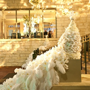 White Peacock Feather Decor