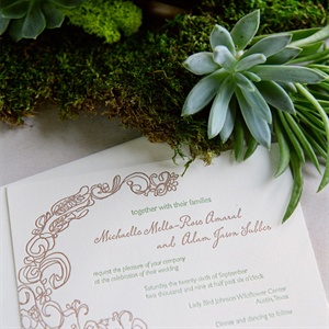 Patterned Invitation