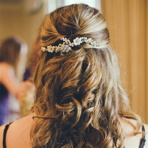 Jeweled Flower Bridal Comb