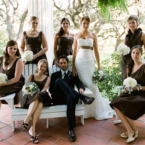 Dark Brown Bridesmaid Dresses