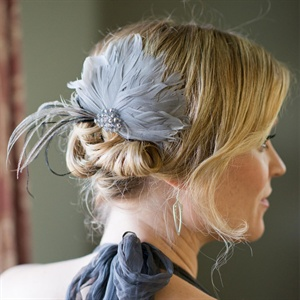 Gray, Feathered Hair Accessory