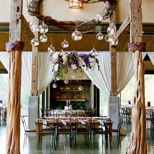 Rustic Indoor Reception