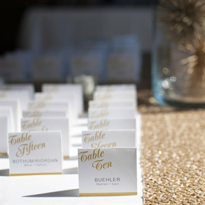 Gold Accented Escort Cards