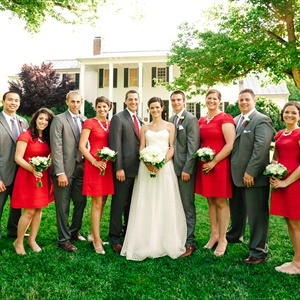 Short-Sleeved Bridesmaid Dresses