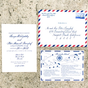 Romantic Hemingway Invitation Suite