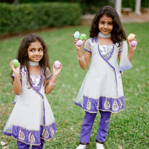 Flower Girls in Traditional Eastern Attire