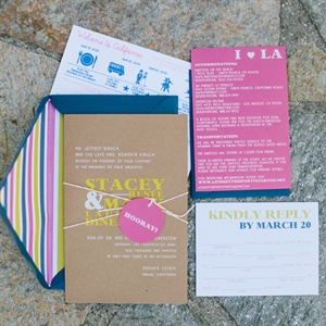 Bright Colored Modern Invitations
