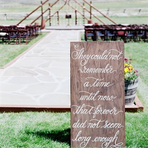 Handpainted Ceremony Sign