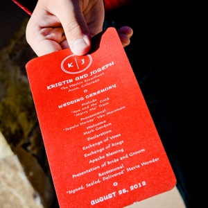 Red Wedding Programs