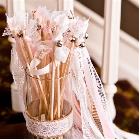 Lace Ribbon Wands