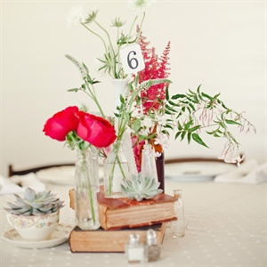 Rustic Succulent and Wildflower Centerpieces