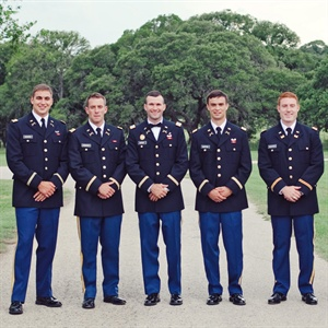 US Army Military Groomsmen Attire