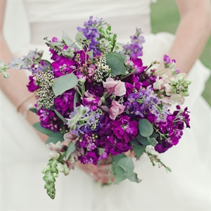 Purple Wildflower Bridal Bouquet