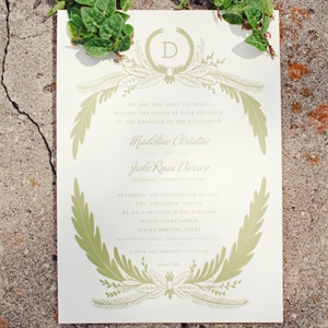 Gold Scripted Wedding Invitations