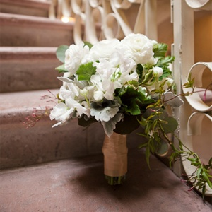 White Sweet Pea and Ranunculus Bouquet