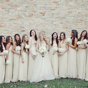 Beige Bridesmaid Gowns