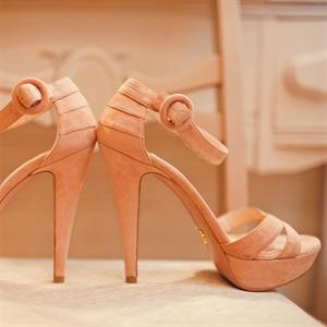 Peach Suede Heels
