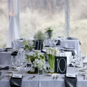White and Green Reception Decor