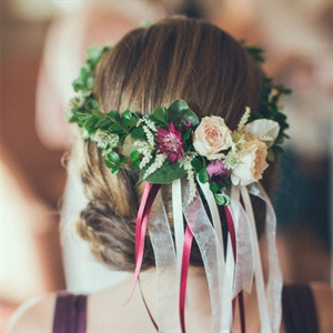 Flower Girl Floral Halo