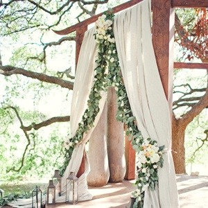 Draped Ceremony Decor