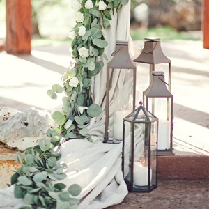 Rustic Lantern Ceremony Decor